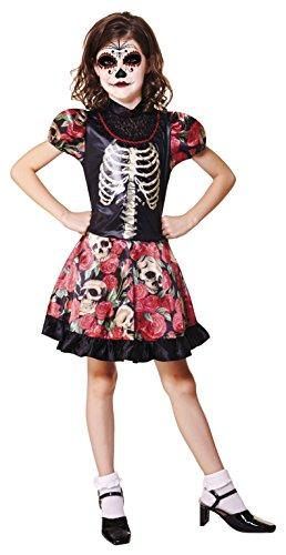 Tag Der Toten Mädchen (viving Costumes) 10-12 años (Catrina Kostüme)