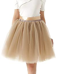 Gonna in Tulle 7 Strati Sottogonna Balletti Petticoat Tutu con Cintura per  Festa Party a1676ee4bb6