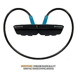 Amkette Trubeats Slix-2 Bluetooth Headphones (Black/Blue)