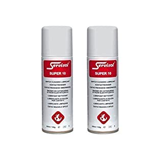 2 x Servisol Super 10 Switch Cleaner Lubricant Contact Cleaner Mixing Desk