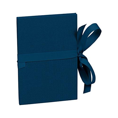 Semikolon (353205) Leporello Classico marine (blau)   Für 14 Bildern im Format 10 x 15 cm   Ziehharmonika-Fotobuch   Format: 12,2 x 17,7 cm Marine 10