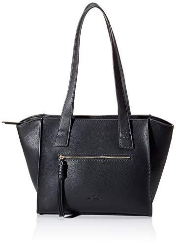 TOM TAILOR Shopper Damen, Katharina, (Schwarz), 40x26x9 cm, TOM TAILOR Schultertasche, Handtaschen Damen