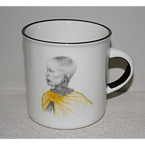 Shabby Chic Cuori Tazza – dipinta a mano – South African Art african women yellow