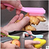 PiniceCore Colgar Herramientas de Fruta de Limpieza Cepillo de la Cocina con Verduras Mango de Cepillo de Limpieza Cepillo para Verduras Verde