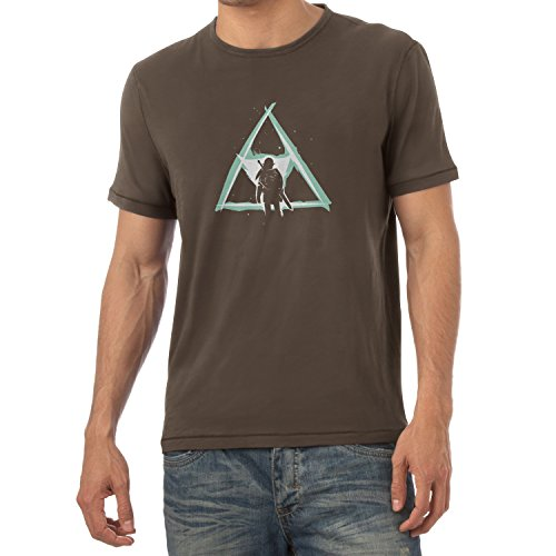 NERDO - Triforce Light - Herren T-Shirt, Größe S, braun (Hyrule Warriors Legends Kostüme)
