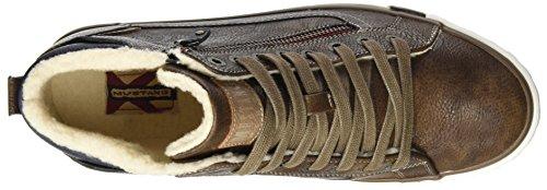 Mustang Herren 4072-601-360 Hohe Sneaker Braun (Mittelbraun)
