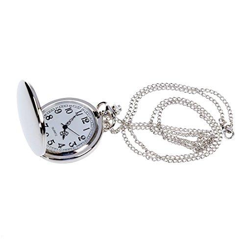 TOOGOO (R) Halskette Anhaenger Kette Taschenuhr Nettes Geschenk - Silber