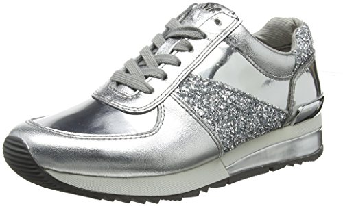 s.Oliver 23659, Zapatos de Cordones Oxford para Mujer, Plateado (Silver Struct.), 42 EU