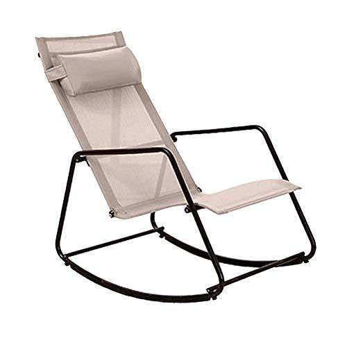 Bseack Fauteuil à bascule, repose-tête amovible, design ergonomique, secouez le jardin avec balcon de la nature