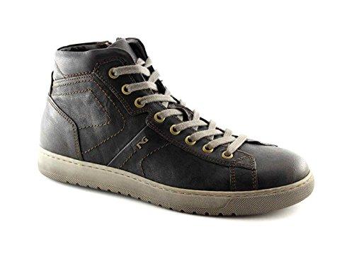 BLACK JARDINS 4360 chaussures sport t.moro hommes mi zip lacets baskets Marron