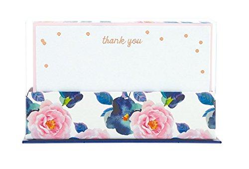 Flat Notes: Navy & Pink Floral – Briefkarten mit Kuverts für vielfältige Anlässe: marineblau & pink geblümt: 50 ansprechende Karten mit den passenden Umschlägen
