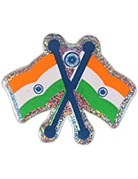 Dhwaj Indian Flag Coat Pin / Brooch / Badge For Clothing Accessories (Pack Of 12)