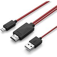 PhoneStar MHL Kabel Full HD Adapter 11-polig Micro USB und USB zu HDMI [Audio- und Bildübertragung 1080p] passend für Samsung Galaxy S2, S4 Zoom, Galaxy Nexus 2, Note 3, Note 8.0, uvm.