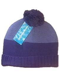 Pour enfants/filles bande thermique chapeaux avec Bobble 2 ombre imprime une seule taille, lilas