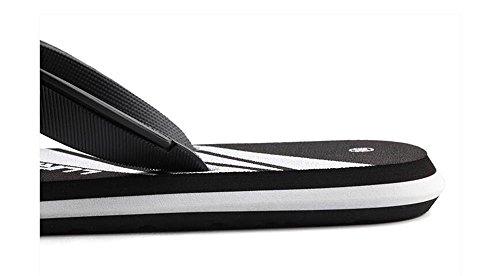 ALUK- Sandales d'été - Les personnages des hommes Drag The Anti-slip Sandales Outdoor Loisirs Chaussures de plage en caoutchouc ( Couleur : Noir , taille : 42 ) Noir