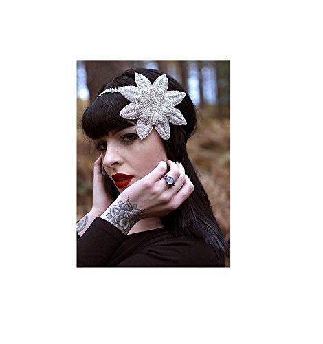 Argent Fleur Strass Bandeau Serre-tête style vintage années 1920 Flapper mariée 30S R48 * * * * * * * * exclusivement vendu par – Beauté * * * * * * * *