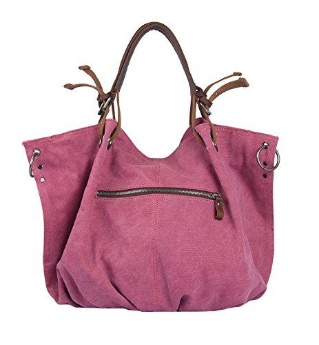 Aibag, Borsa a spalla donna Rosa rosa beige