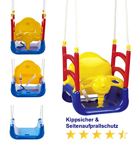 Izzy Baby-Schaukel 3 in 1, mitwachsend, hoch, Kinder, Garten, Türrahmen, Tür (3-in-1 Schaukel)
