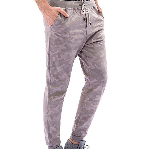 Camouflage Homme Pantalons,Élasticité Fitness Sport Loisirs Grande Taille Mode Coton Slim Formatio