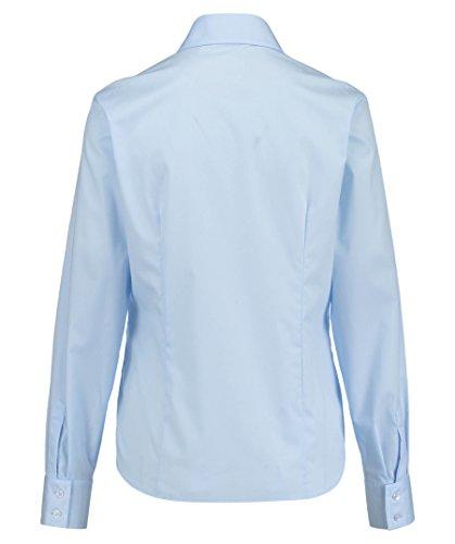 eterna Langarm Bluse Modern Classic Unifarben Hellblau