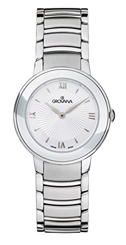 Grovana Women's Quartz Watch with Silver Dial Analogue Display and Silver Stainless Steel Bracelet 5099.1132