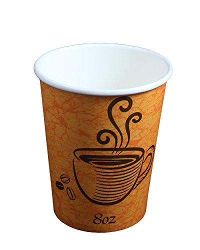 Lot de 100 gobelets à Coffee to go Gobelet en carton, 228 ml, résistant à la chaleur Coffee to go haut