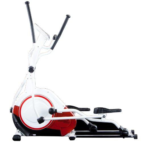skandika Crosstrainer Elliptical Jupiter SF-1010, 21 kg Schwungmasse und großem Multifunktionscomputer mit 20 Trainingsprogrammen inklusive 1 Körperfett-Programm Lieferumfang inklusive Pulsgurt, rot