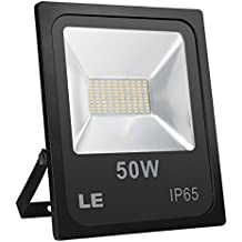 LE Foco LED 50W 4000lm Blanco Frío, Equivalente a 150W SAP, Resistente al Agua IP65, Foco Exteriores / Interiores