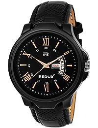 Redux Analogue Brown Dial Men's & Boy's Watch (Check Black)