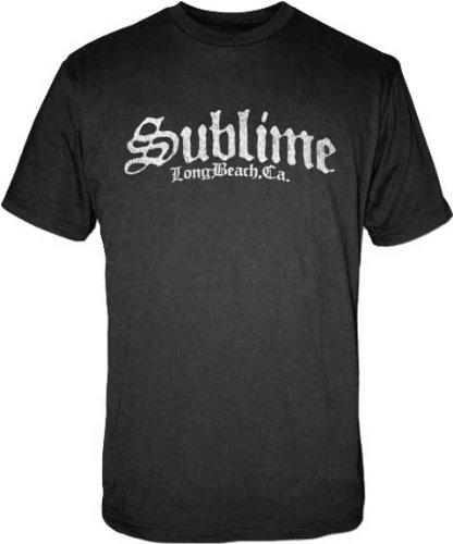 Sublime Stamp Logo Black T-Shirt | S (T-shirt Juniors Sublime)