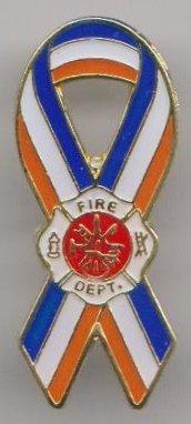 Vereinigten Staaten von Amerika USA US Fire Fighters Band Flagge Pin Badge (Fighter Fire Abzeichen)