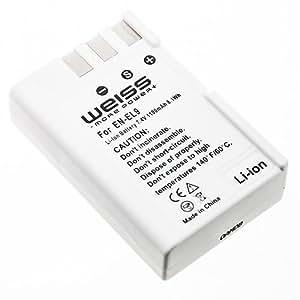 WEISS - Batterie LI-Ion semblable à Nikon EN-EL9 pour Nikon D40 / D40X / D60 / D3000 / D5000 (1000 mAh)