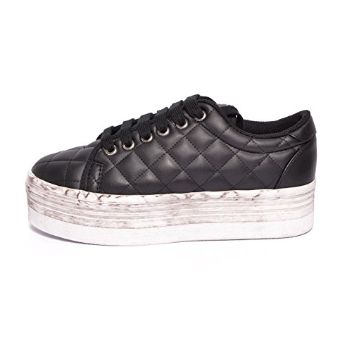 JEFFREY CAMPBELL - .ZOMG QUILTED LEA WASH - BLACK (41)