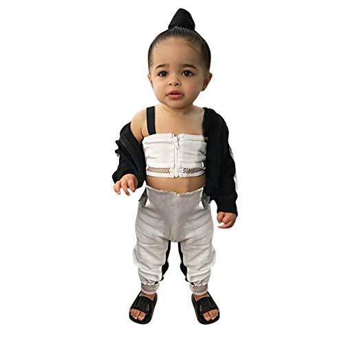 Baby Mädchen Kleidung Sets Prinzessin Kurzarm Body Weste Tops + Hosen Trainingsanzug Sport Outfits Set festlich Mädchen Sommer Kleidungs Outfits Pwtchenty Freizeitkleidung Bekleidungssets