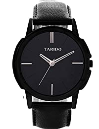 Tarido New Style Black Dial Leather Strap Analog Wrist Watch For Men/Boy