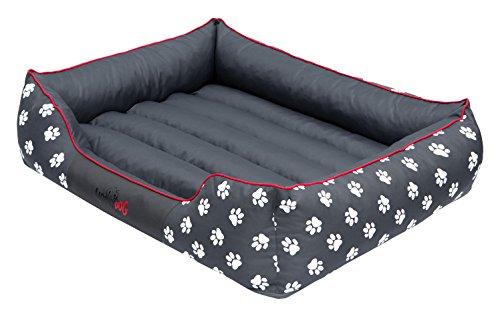 hobbydog-prelsz2-hundebett-hundesofa-hundekorb-tierbett-prestige-grosse-l-65-x-50-cm-grau-mit-pfoten