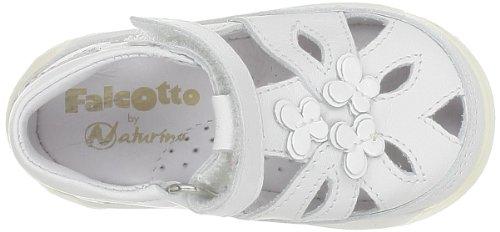 Falcotto 1164 Mädchen Babyschuhe - Lauflernschuhe Weiß - Blanc (9101 Bianco)