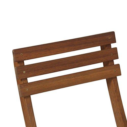 greemotion Balkonset Borkum – Balkonmöbel-Set aus Holz klappbar – Bistro-Set 3-teilig – Gartenmöbel Akazie massiv – Balkontisch mit 2 Stühlen – Tisch & Stühle für Garten, Terrasse & kleiner Balkon
