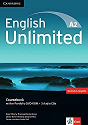 English Unlimited A2 - Elementary. Coursebook with e-Portfolio DVD-ROM + 3 Audio-CDs