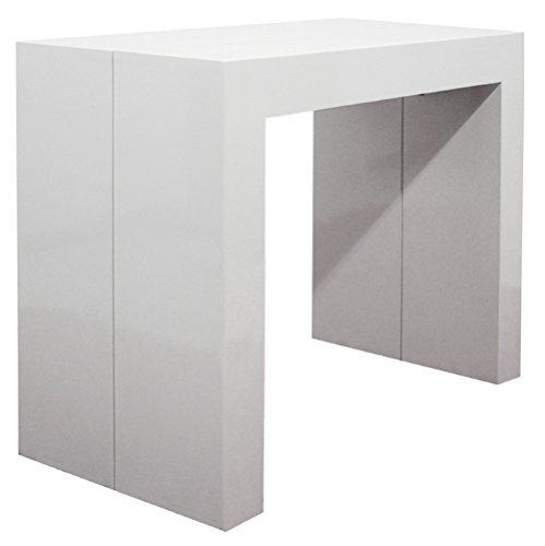 Consolle Allungabile 4 Metri.Tavolo Consolle Allungabile Laccato Bianco Opaco 3 Metri 45x95