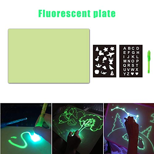 Delidraw Spaß tragbare Kinder A3 A4 LED Rückverfolgungslicht Board Drawing Pad Tabelle Stencil Draw mit Light In Dark