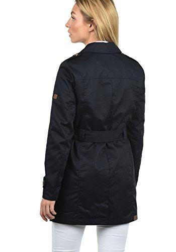 DESIRES Tessa Damen Trenchcoat Mantel mittel-lange Jacke mit Gürtel und Umlege-Kragen Insignia Blue (1991)