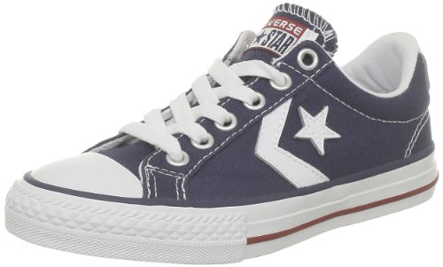 Converse Star Player Ev Canvas Ox, Baskets mode mixte enfant, Bleu (Marine), 36