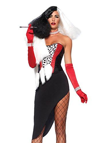 Dalmatiner Kostüme Für Frauen Halloween (Leg Avenue 85396 - Cruel Diva Damen kostüm, Größe Large (EUR)