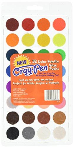 Surebonder cp-32cray-pen 32Farbe Palette Wachs Pucks 32Farben für die cray-pen Malwerkzeug, mittel (Wachs Puck)
