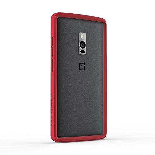 OnePlus 2 Bumper Hülle - RhinoShield [CrashGuard] 4 Meter Hochleistungsstoßdämpfung [ShockSpread Technologie] - Besonders dünn und leicht [30 Jahre Garantie] - Rot (Brick Red Finish)