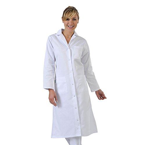 Label Blouse Damen Arztkittel Weiß weiß Medium (Sweatshirt Apotheke)