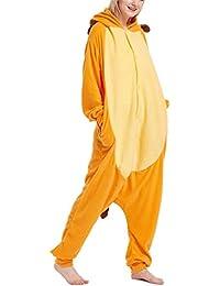 YOGLY Pijamas para Adulto Cosplay Traje Disfraz Animal Adulto Invierno Unisex Pijama Mono