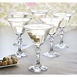 Juego de 6vasos estilo Martini Vintage de cristal transparente Copas de Cóctel 170ml.