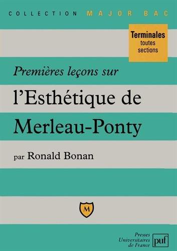 Premières leçons sur l'esthétique de Merleau-Ponty